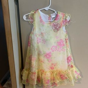 Yellow and pink Easter dress